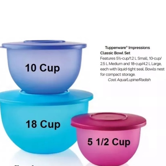 Tupperware Other - TUPPERWARE Impressions classic Bowl Set